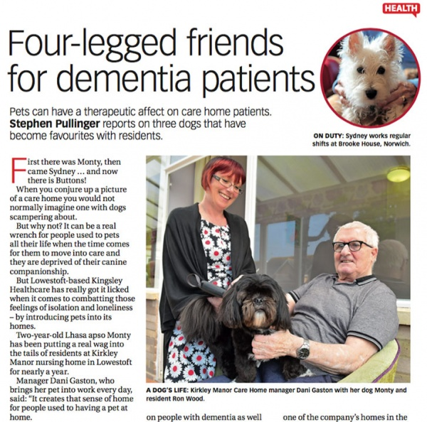 four legged friends for dementia patients