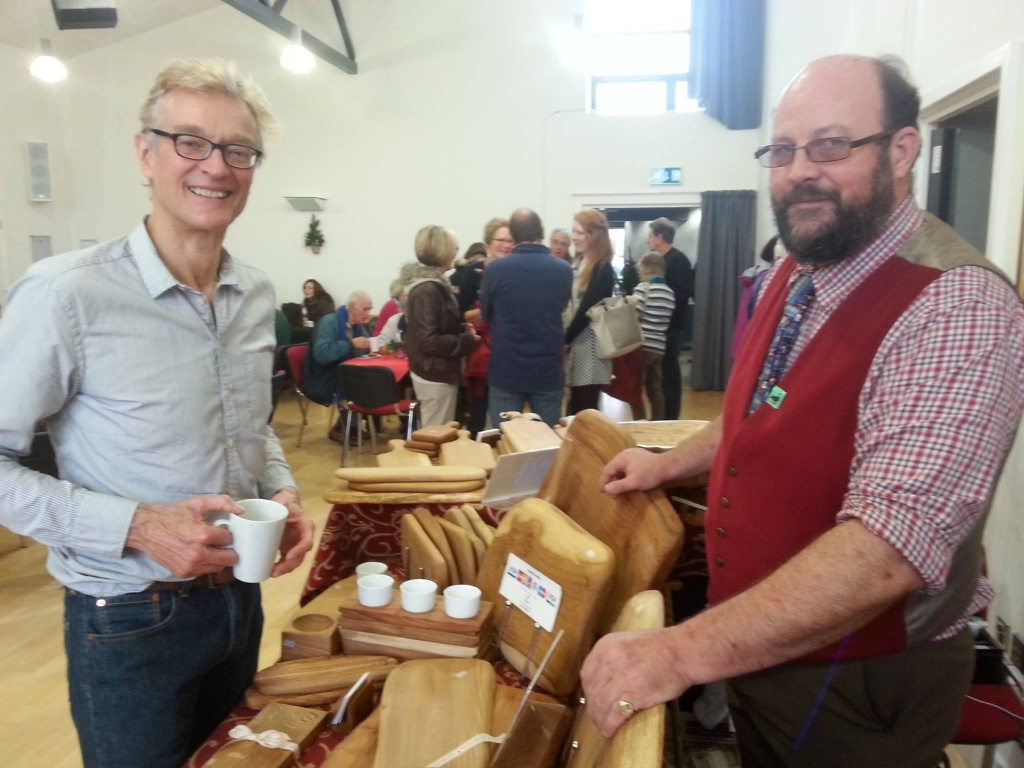 Paul Williams in his workshop and at a craft fair